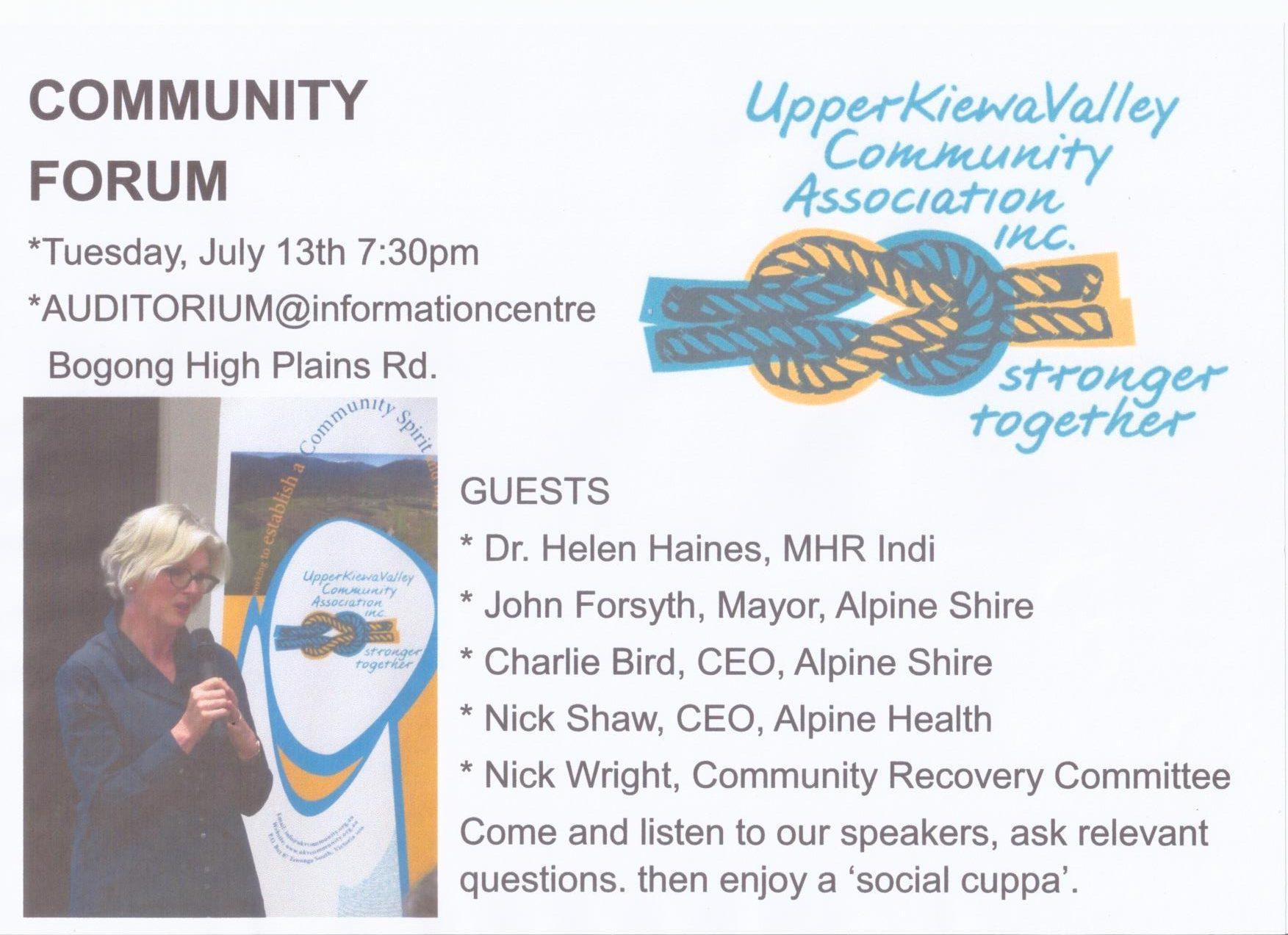 2021 Community Forum